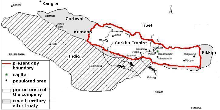Nepal Map Before Sugauli Treaty « Nepal