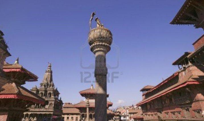King-yoganarendra-malla-s-column-in-patan-durbar-square