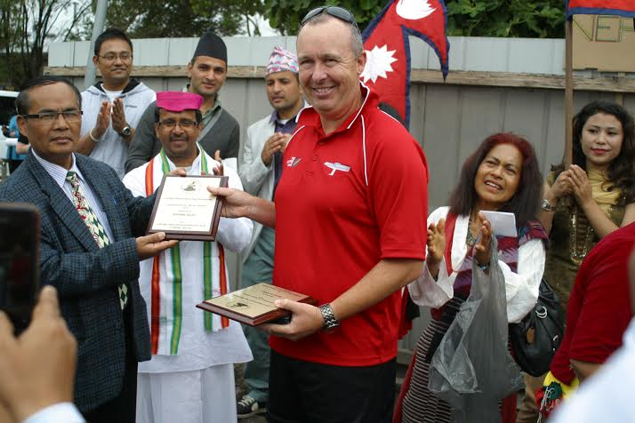 LKDM Friend of Nepal Award to Brad Clarke